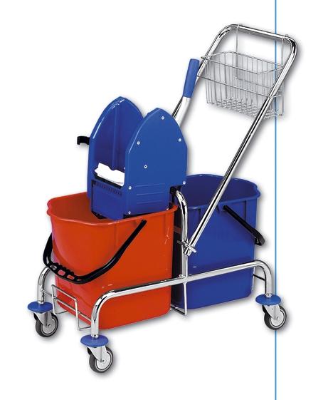 Úklidový set - vozík, ždímač, mop, tyč