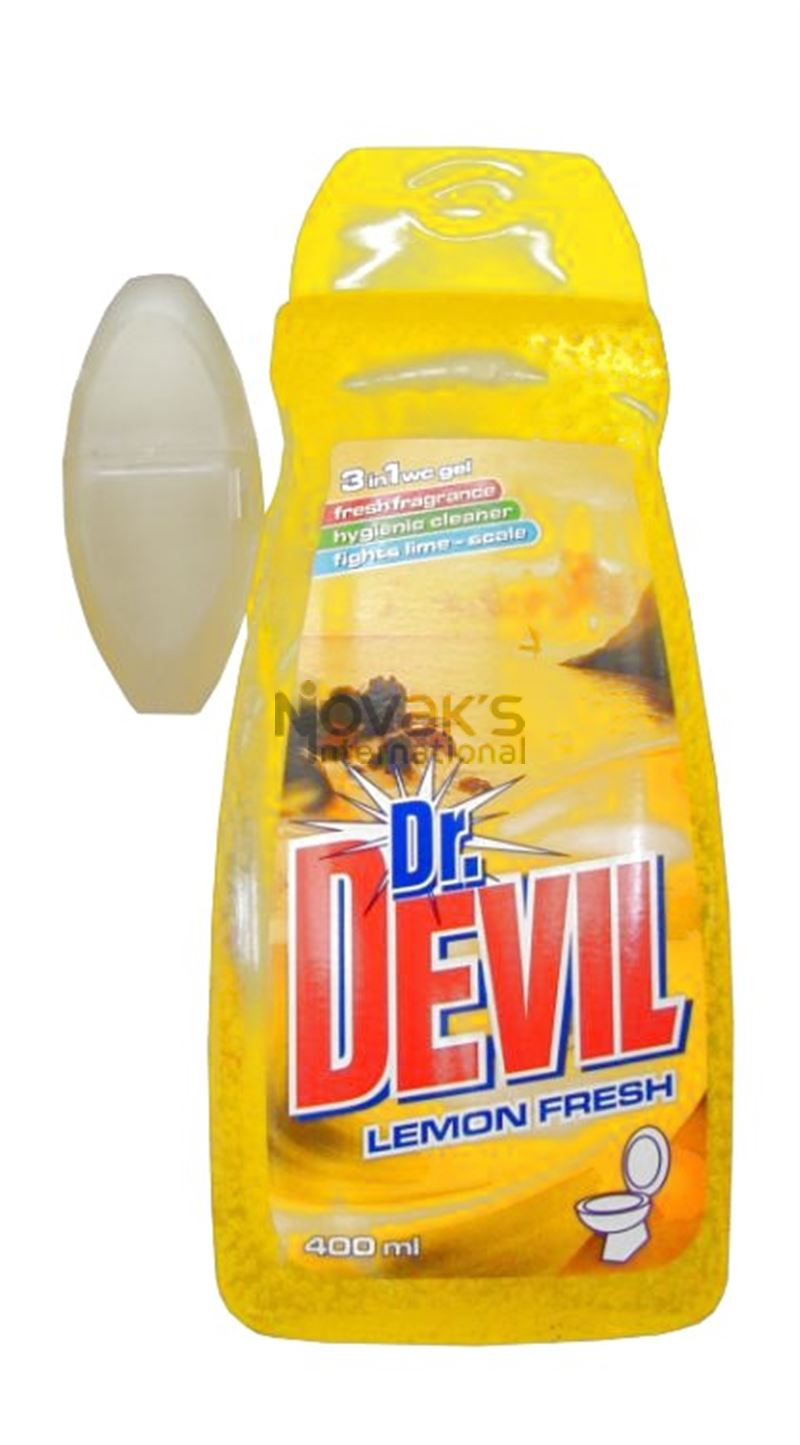 Dr.Devil WC gel 400ml + košík