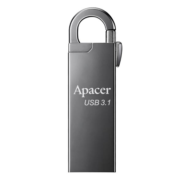 Apacer USB Flash Disc 8GB s karabinkou stříbrný