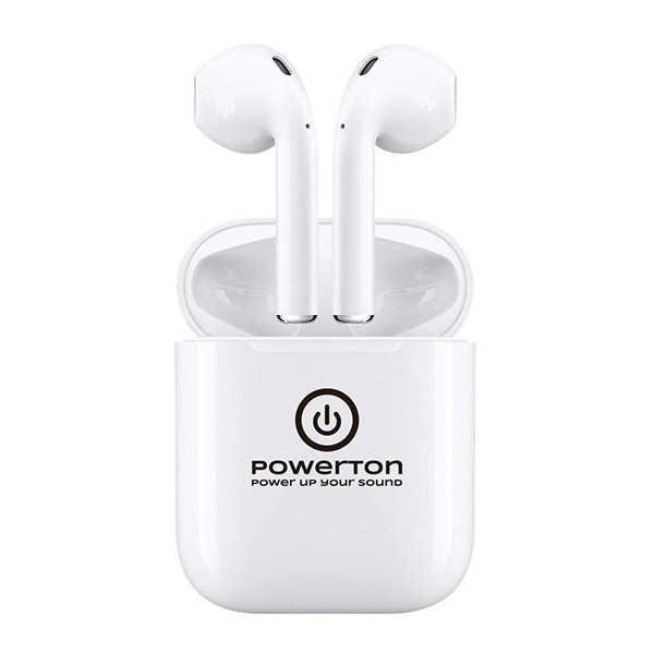 Bezdrátová sluchátka Powerton sportovní bílá