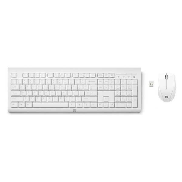 Klávesnice HP C2710 bezdrátová s optickou myší bílá