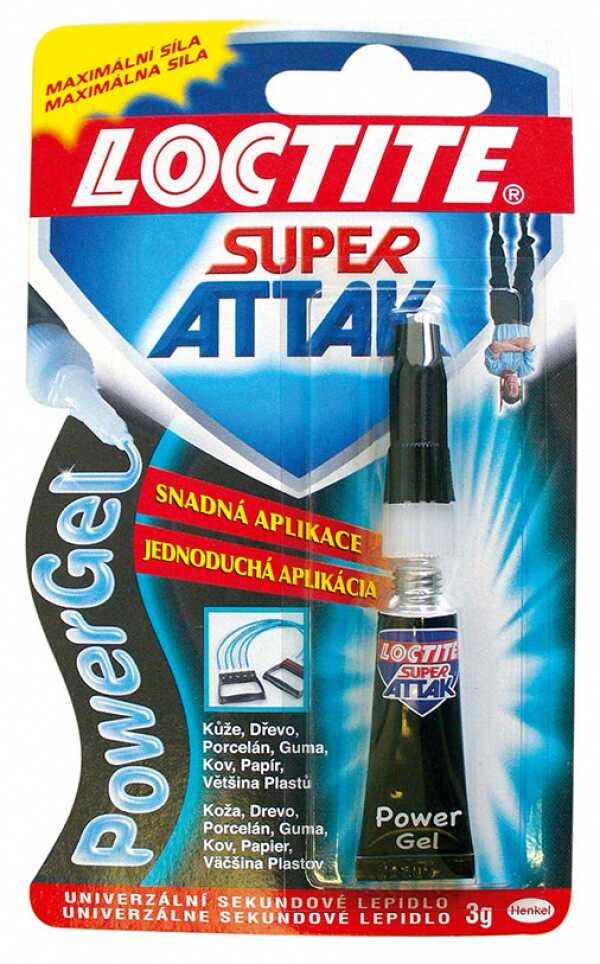 Lepidlo vteřinové Super Attak Power Gel 3g